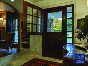 Dutch Door With Screen And Sidelights