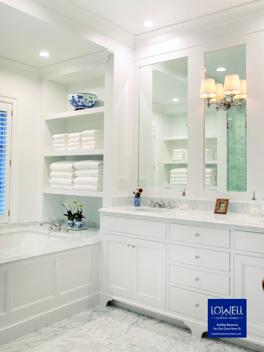 Lowell Custom Homes place to rejuvanate after entertaining and careing for others