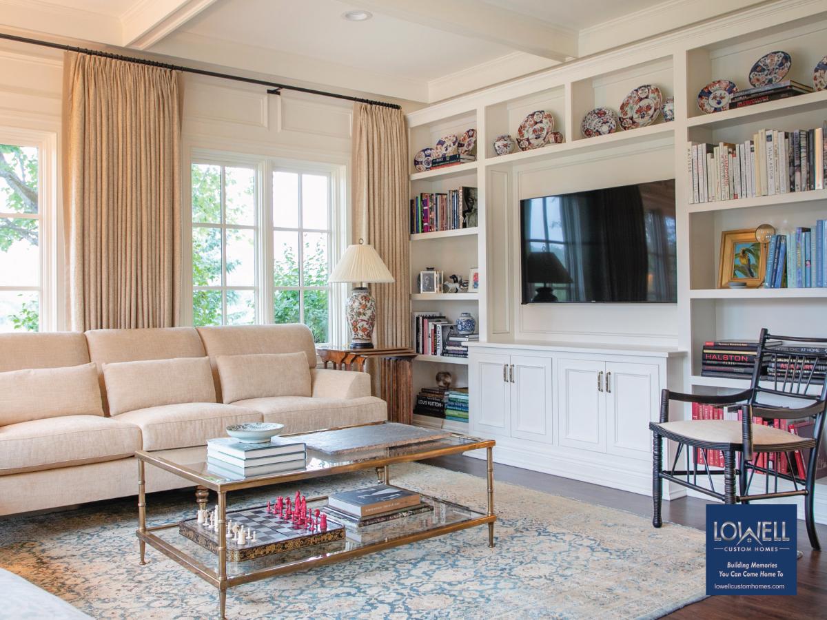 owell Custom Homes options for intimacy cozy den