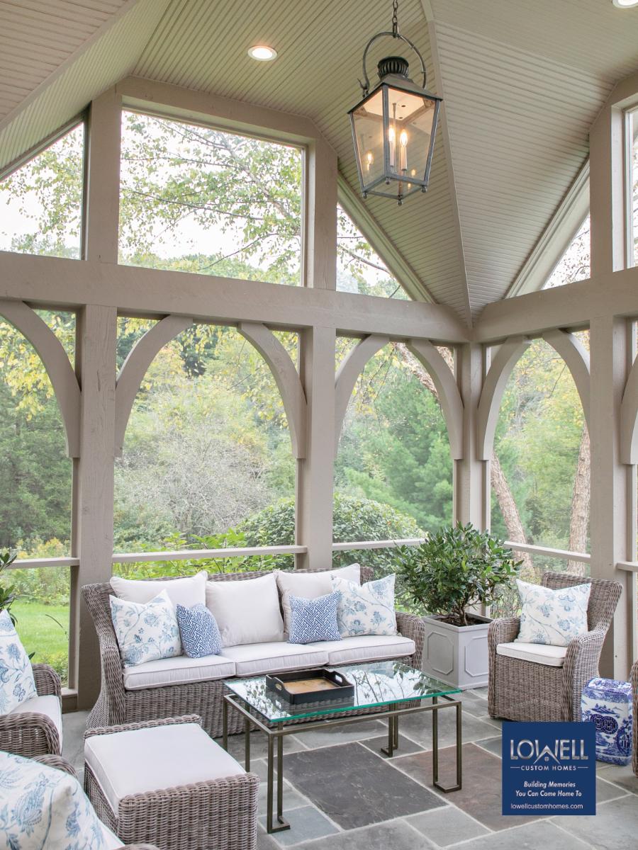 Lowell Custom Homes indoor outdoor
