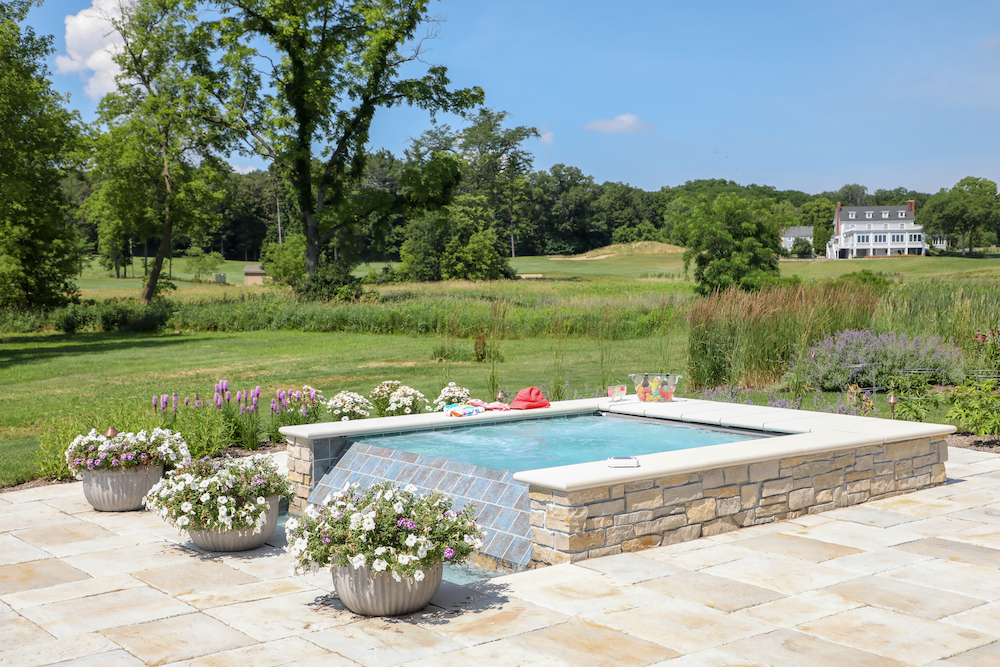 Backyard Resort Outdoor Pool and spa